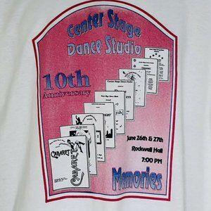 Vtg Memories Center Stage Dance Studio 90s Read XL